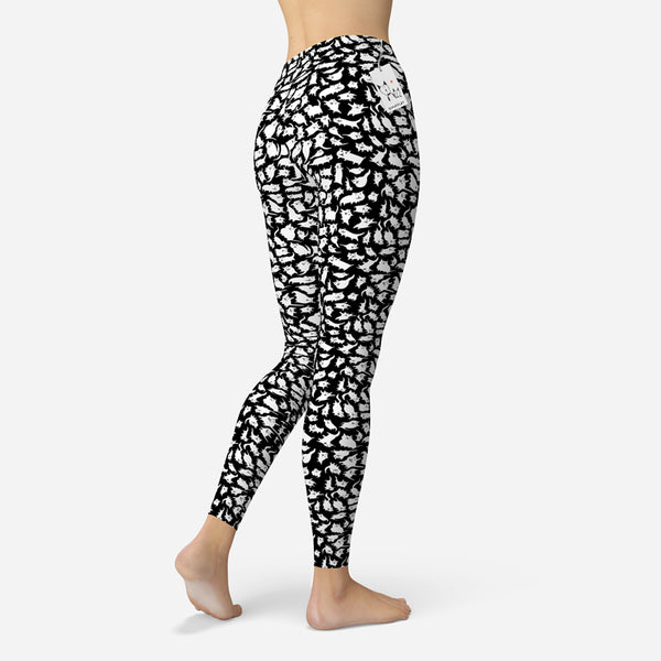 Scruffcat | Crazy Cats Leggings back view