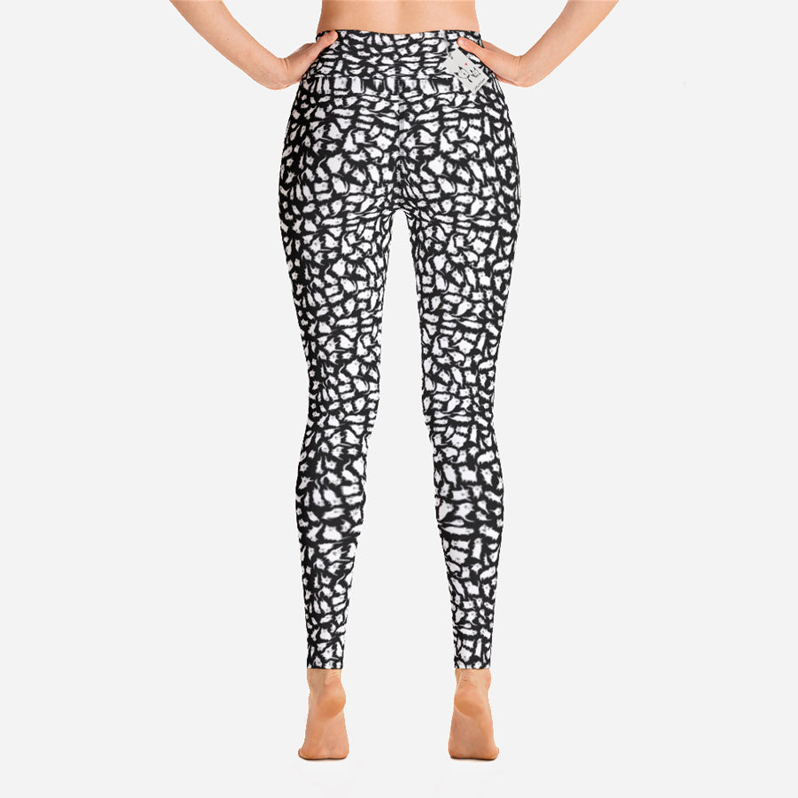 Scruffcat | Crazy Cats Yoga Leggings | Full Length back