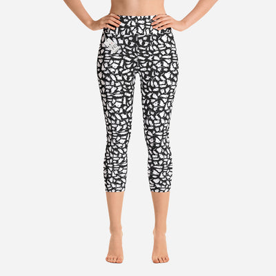 Scruffcat | Crazy Cats Yoga Leggings | Capri