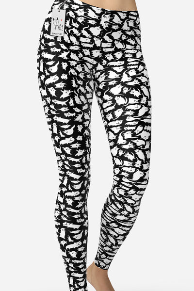Scruffcat | Crazy Cats Yoga Leggings