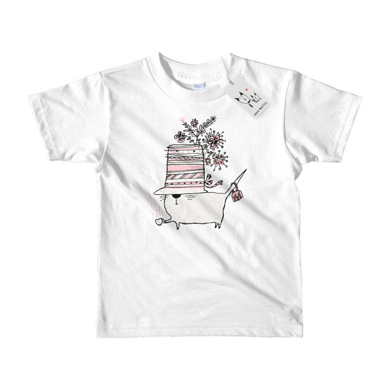 Carla Martell | Cup of Tea Kids T Shirt | Blue