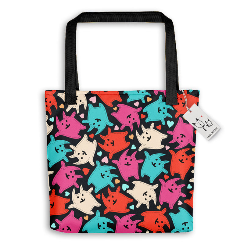 Carla Martell | Jolly Jumping Kittens Tote Bag