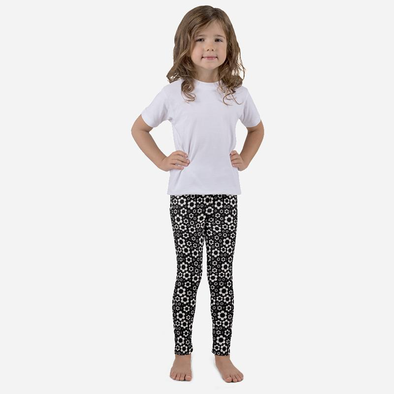 Carla Martell | Dashing Daisies Kids Leggings front view