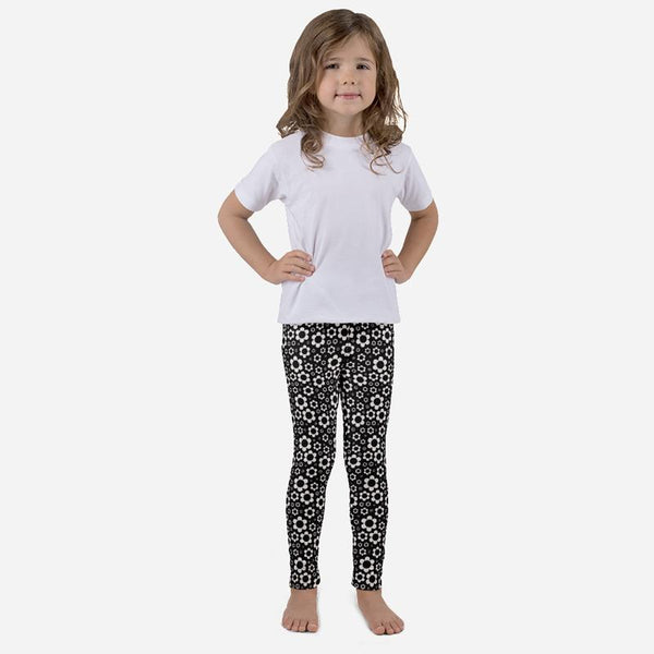 Scruffcat | Dashing Daisies Kids Leggings front view