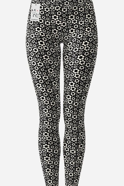 Carla Martell | Dashing Daisies Yoga Leggings front view