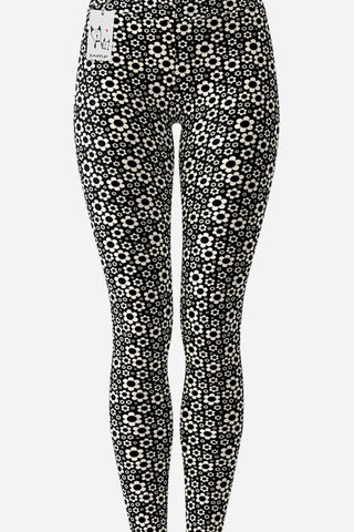 Scruffcat | Dashing Daisies Yoga Leggings front view