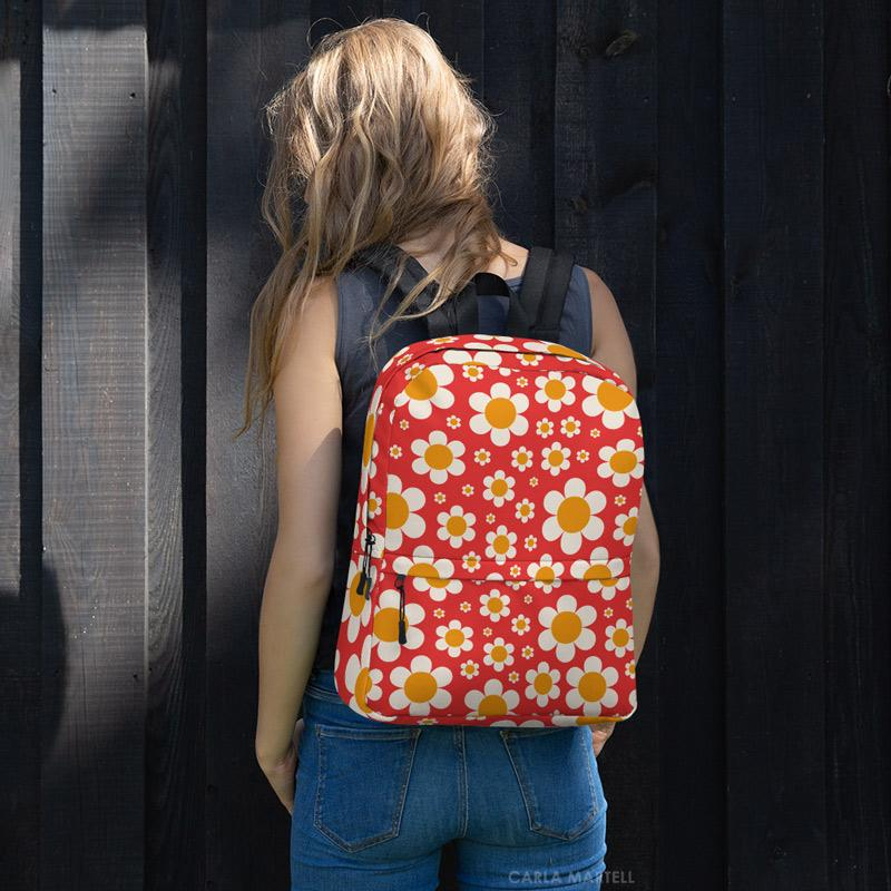 Carla Martell | Dotty Daisies Backpack model view