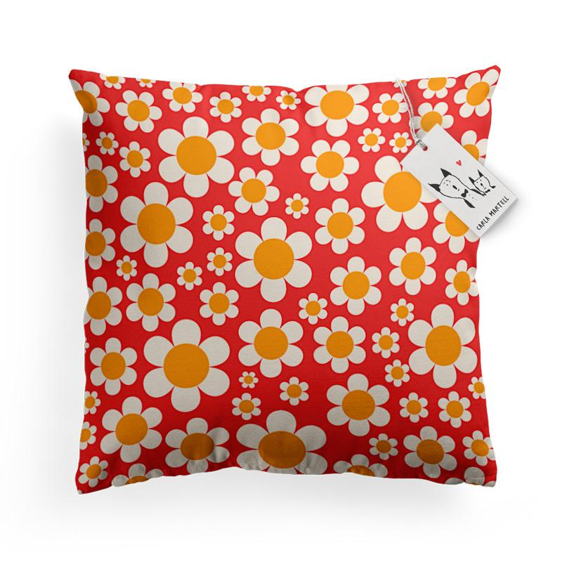 Carla Martell | Dotty Daisies Floral Pillow