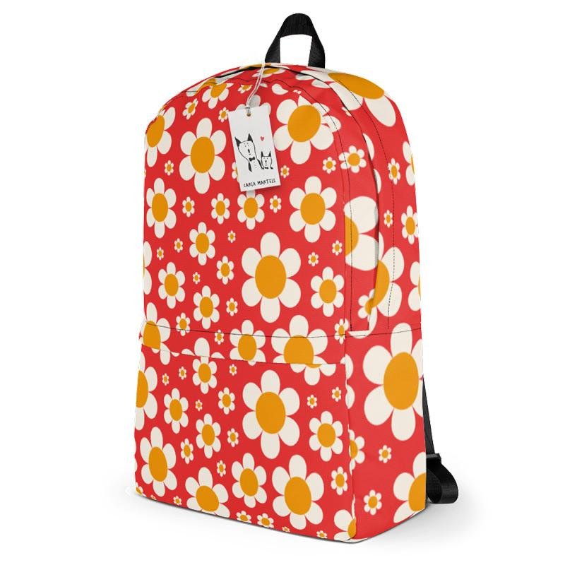 Carla Martell | Dotty Daisies Backpack side view