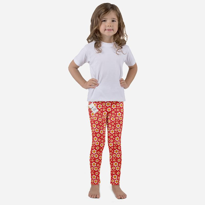 Carla Martell | Dotty Daisies Kids Leggings front view