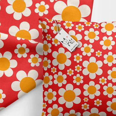 Dotty Daisies Kids Pillow by Carla Martell