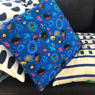 Carla Martell | Fantail Flower Garden Kiwiana Pillow interior