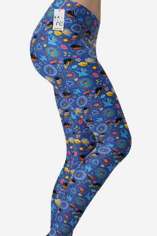 Scruffcat | Fantail Flowers Yoga Leggings