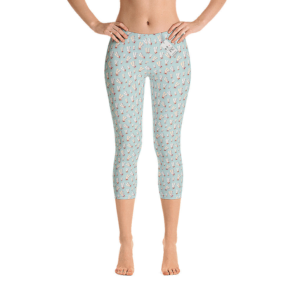 Scruffcat | Flower Bunnies Capri Leggings