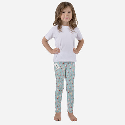 Carla Martell | Fun Flower Bunnies Kids Leggings on girl