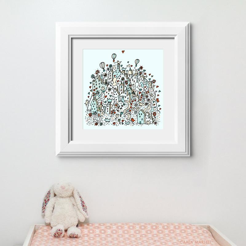 Flower City Nursery Print | Carla Martell