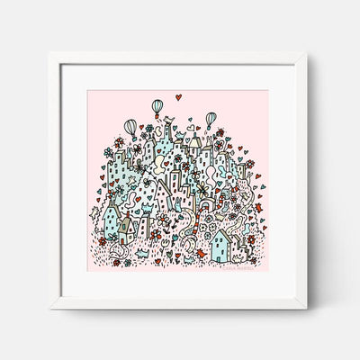 Carla Martell | Flower City Children's Nursery Print | Pink