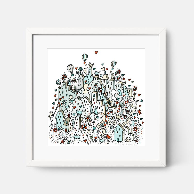 Carla Martell | Flower City Children's Nursery Print