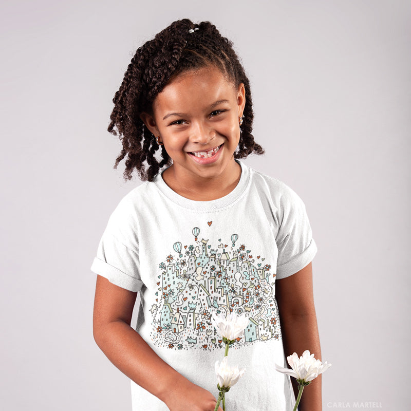 Flower City Big Kids T Shirt | Carla Martell