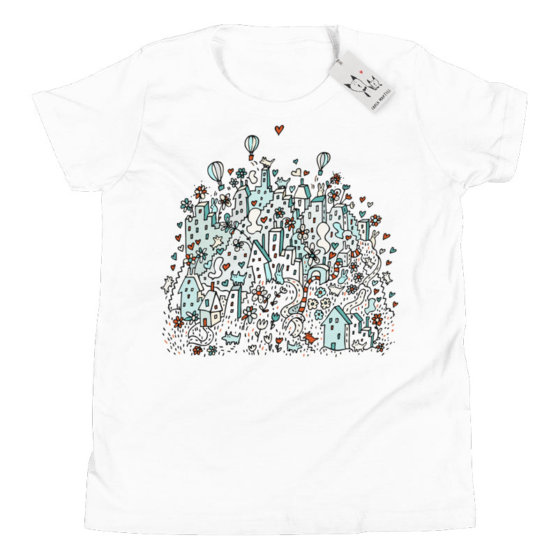 Carla Martell | Flower City Youth T Shirt | White