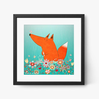 Carla Martell | Fox in Flowers Nursery Print
