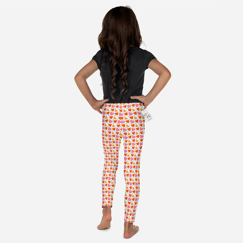 Scruffcat | Happy Hearts Kids Leggings back view
