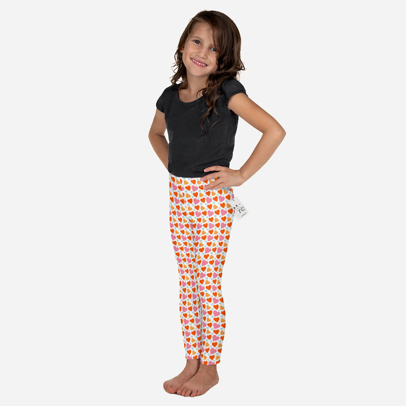 Scruffcat | Happy Hearts Kids Leggings model view