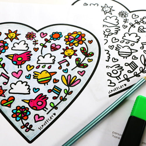 Love Heart Colouring Page | Carla Martell