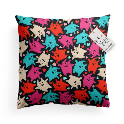 Carla Martell | Jolly Jumping Kittens Kids Pillow