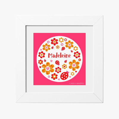 Carla Martell | Ladybird Flowers Personalised Print for Kids