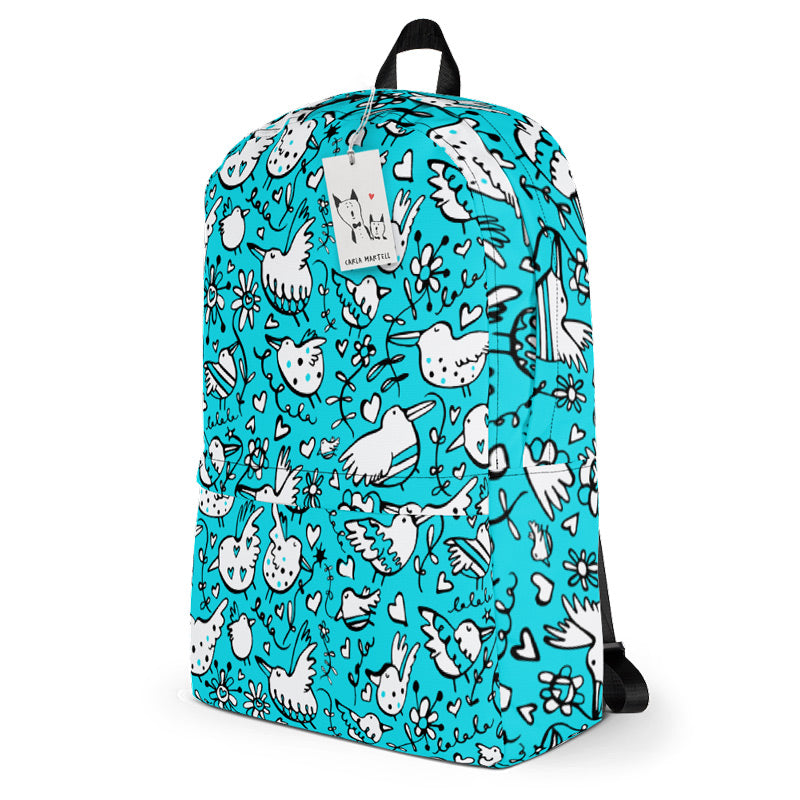 Carla Martell | La La Lovebirds Aqua Backpack
