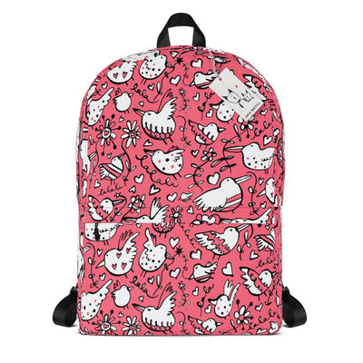 Carla Martell | La La Love Birds Backpack | Pink
