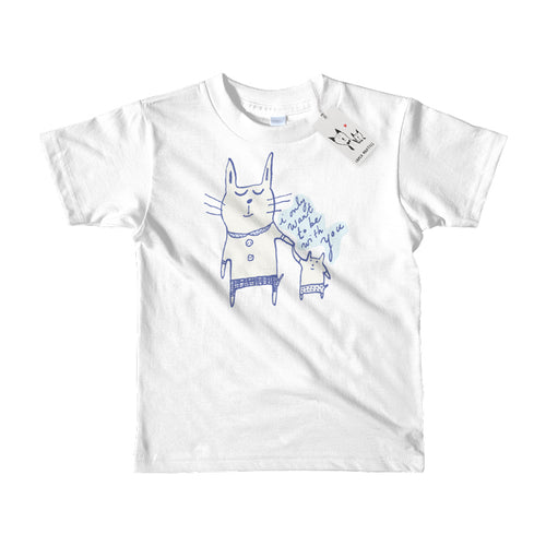 Carla Martell | Love Cats Kids Tee | White