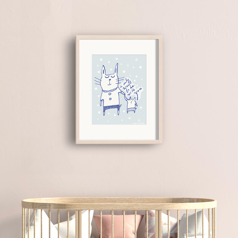 Love Cats Art Print | Carla Martell