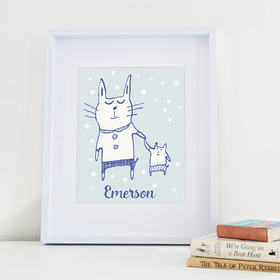 Love Cats Personalised Nursery Print | Carla Martell