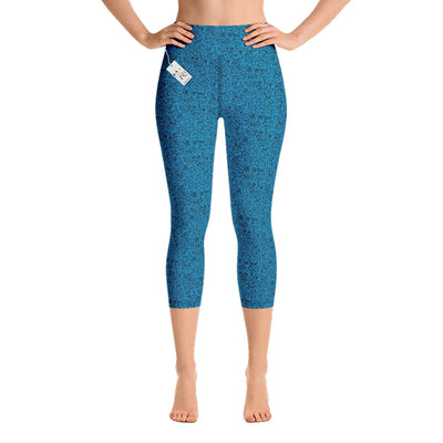 Scruffcat | La La Love Birds Yoga Capri Leggings | Blue