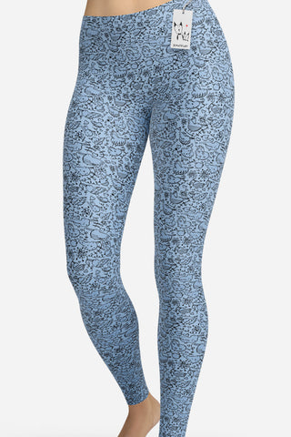 Scruffcat | La La Lovebirds Yoga Leggings | Lilac