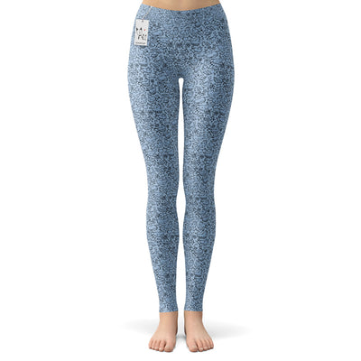 Scruffcat | La La Love Birds Yoga Leggings | Lilac front view