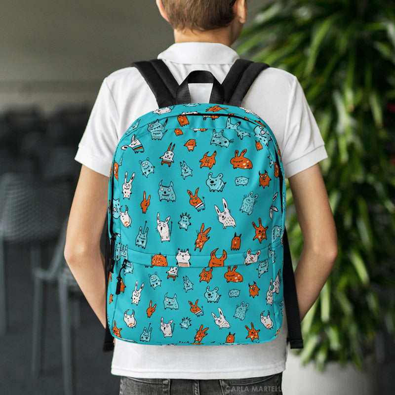Mini Monsters Backpack by Carla Martell