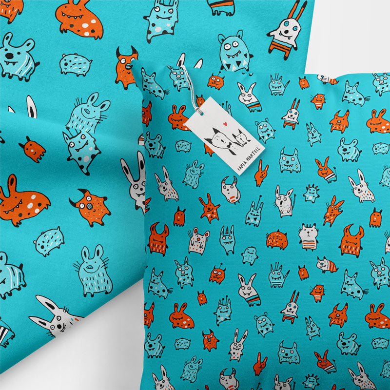 Carla Martell | Mini Monsters Kids Cushion