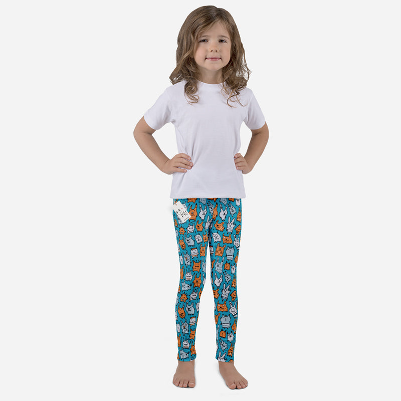 Carla Martell | Mini Monsters Kids Leggings front view