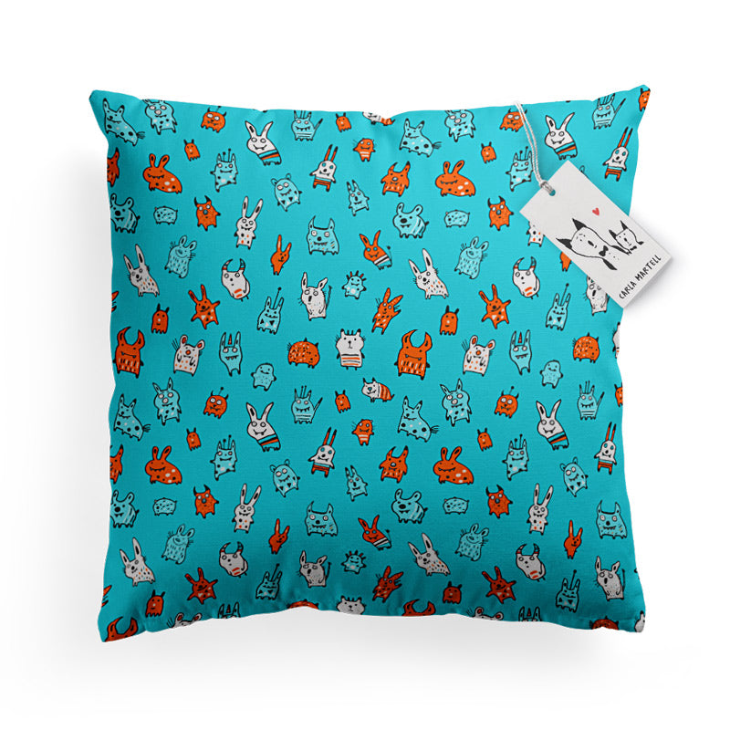 Carla Martell | Mini Monsters Kids Pillow