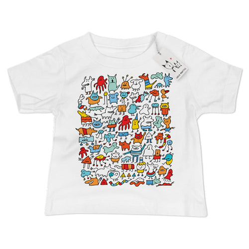Carla Martell | Mad Monster Friends Baby T Shirt | White