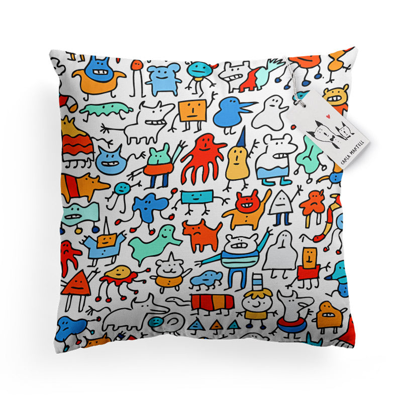 Carla Martell | Mad Monster Friends Kids Pillow