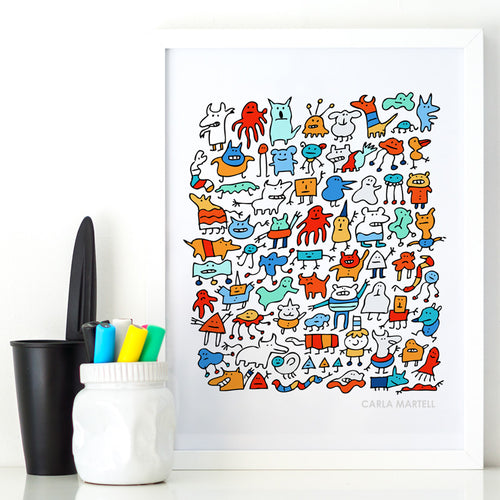 Carla Martell | Mad Monster Friends Print