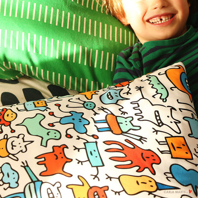 Mad Monster Friends Cute Cushion for Kids | Carla Martell