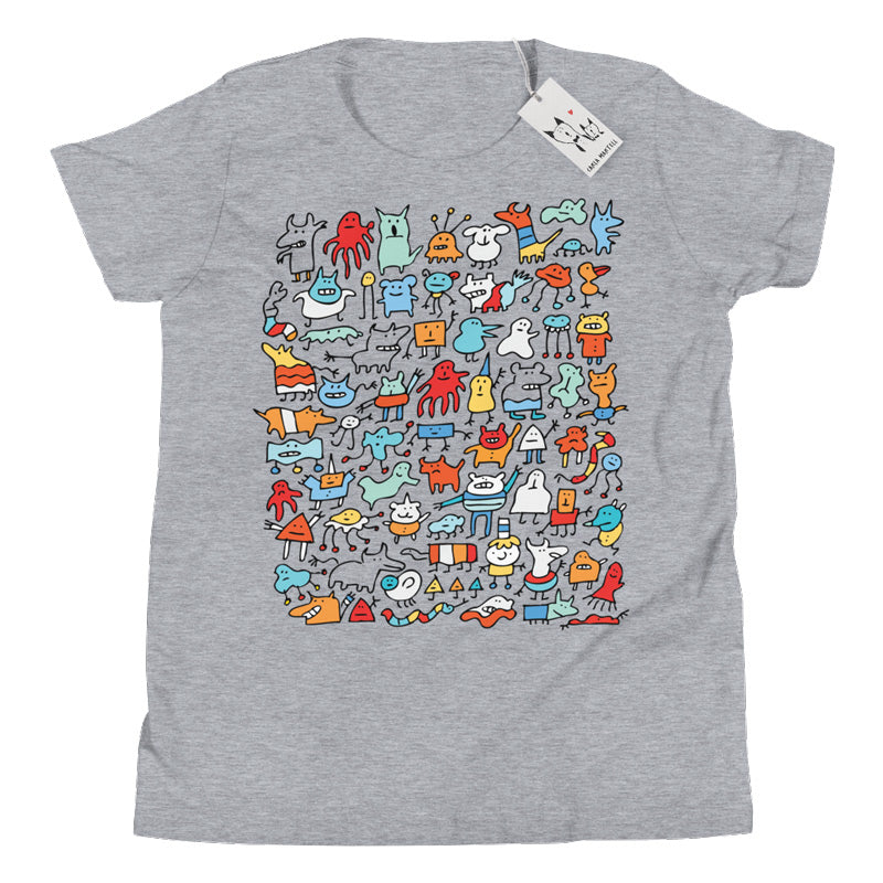 Carla Martell | Mad Monster Friends Youth T Shirt | Athletic Heather