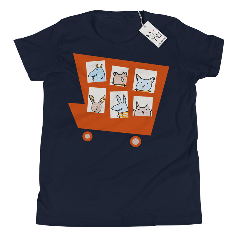 Carla Martell | Marvellous Monster Truck Youth Tee | Navy