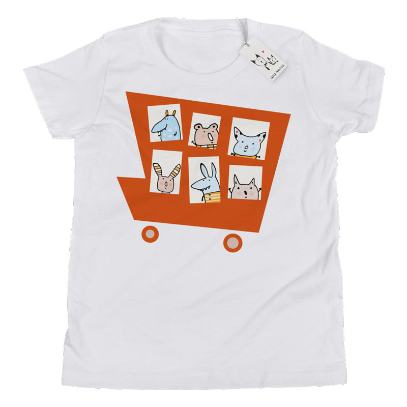 Carla Martell | Marvellous Monster Truck Youth Tee | White