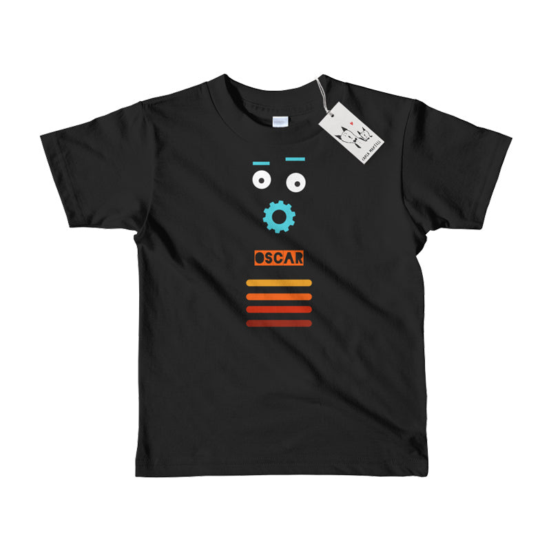 Carla Martell | Retro Robot Personalised Kids T Shirt